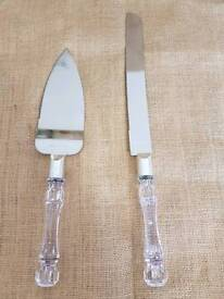 Cake knife and serving set Brand New