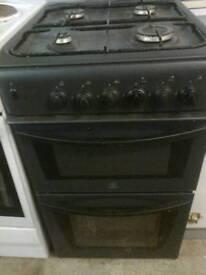 Gas cooker, Black indesit