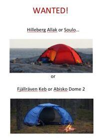 Hilleberg Allak/Soulo or Fjällräven Abisko/Keb Dome 2