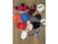 Selection of toddler hats