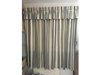 2 sets of fully lined curtains with pelmets