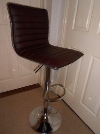Brand new PU Leather Bar Stool Pneumatic Bar Chair Height Adjustable Brown