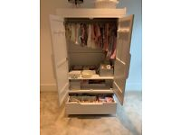 Mamas & Papas wardrobe white wash