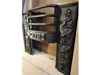Victorian Hob Grate showing fruit , tendrils and leaves, topquality casting.