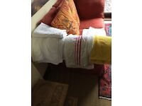 LARGE BUNDLE OF BATH AND HAND TOWELS, BEACH TOWEL AND BATHMAT TOWEL