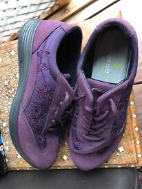 Purple Hotter shoes with memorise insoles