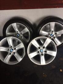 BMW 17 inch 5 spoke alloys