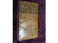 Vintage snake skin clutch