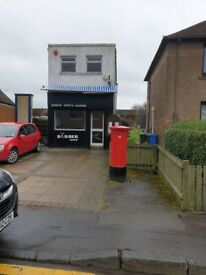 NEWLY DECORATED RETAIL PREMISES TO LET IN HALBEATH MAIN STREET DOUBLE STOREY .