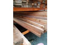 Scottish Larch beams 3mt X 75mm X 75mm