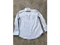 Next Blue Shirt, Regular Fit, 15inch neck - £15