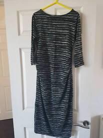 Black stripe maternity dress, size 10
