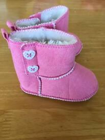 Baby girl boots 6-9 Months Bluezoo Debenhams