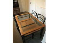 DINNING TABLE WITH 4 CHAIRS INCLUDED FOR QUICK SALE
