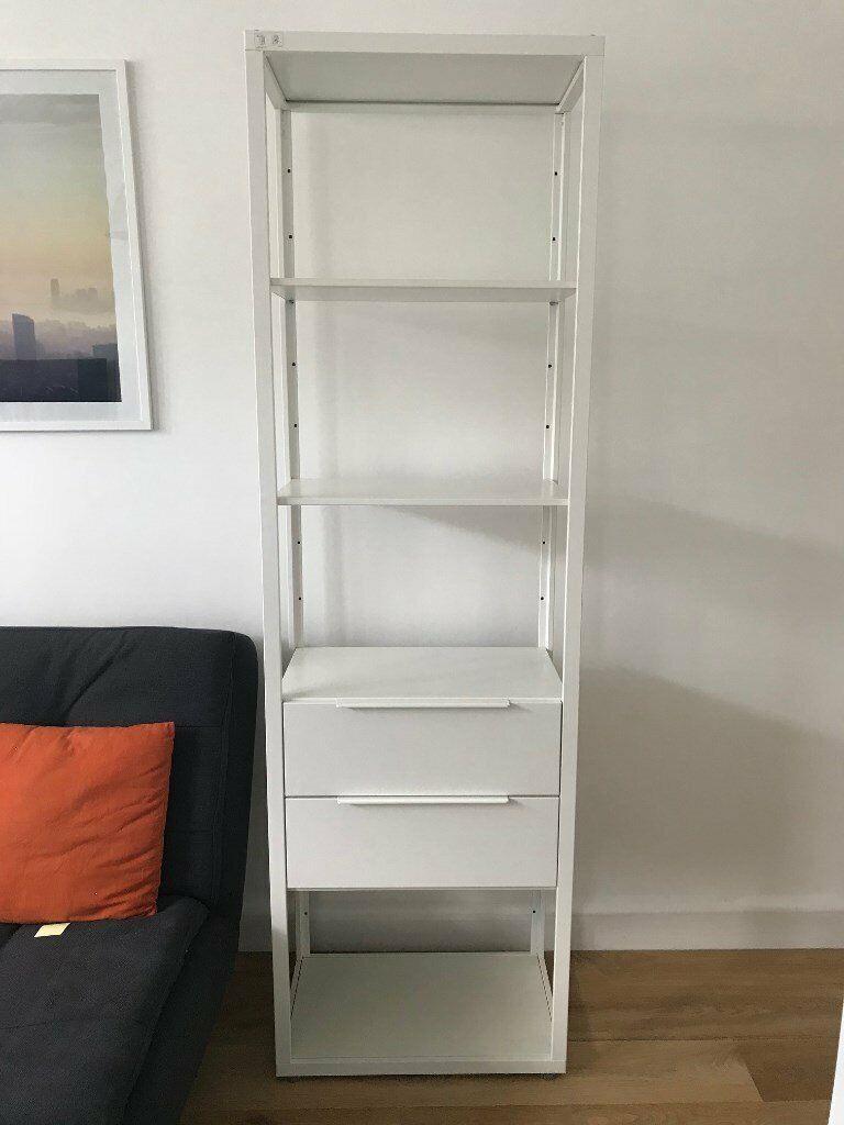 new style aa742 e542e IKEA Shelving Unit White FJÄLKINGE 192cm with 2 drawers 40£   in South East  London, London   Gumtree
