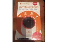 Smart home surveillance camera brand new still in sealed box. Inc HD camera + App + video history