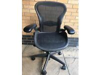 HERMAN MILLER AERON CHAIR SIZE B FULLY LOADED,