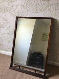 Mirror dark wood frame