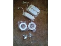job lot of 11 sets of white low voltage down lights, £20 ono
