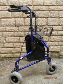 Lightweight Tri Wheel Walker, NEVER USED,