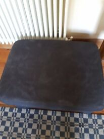 Ektorp Footstool with black cover.