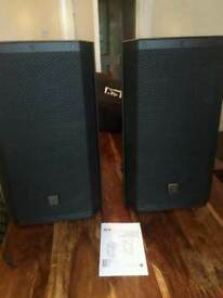 Ev ZLX12 A powered speakers and covers