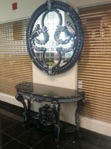 console table and mirror | console table black- Call Store For Special Discount (CA-10)