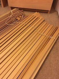 Wooden slatted blind