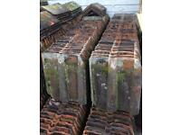 Clay double roman roof tiles and ridge tiles
