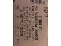 World Darts Championships ticket- Glasgow 5th November