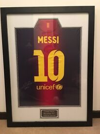 Lionel Messi Authentic Signed Football Shirt