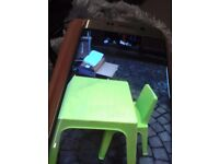 Childs table and chair got paint marks on it so giving it away free witb chair. Suit 2 to 0