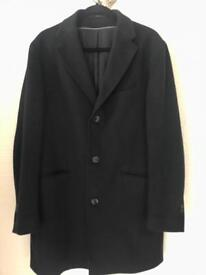 Men's Navy wool overcoat Massimo Dutti