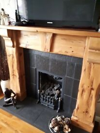 """59"""" Fireplace surround and Inset"""