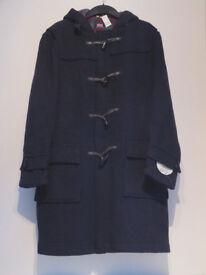 A Gents Navy Duffle Coat,