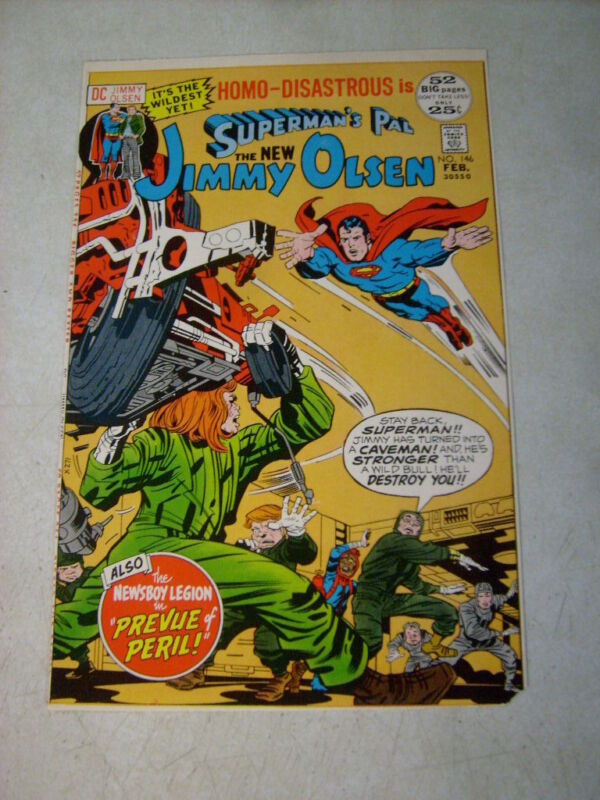 SUPERMANS PAL JIMMY OLSEN #146 COVER ART test approval cover proof 1970