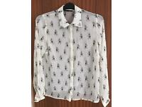 Ladies Primark Blouse with studded collar ~ Size 14