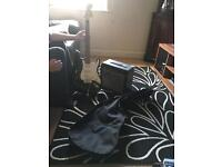Electric guitar with case and amp