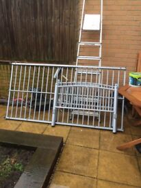 Free metal single bed frame. Collection only