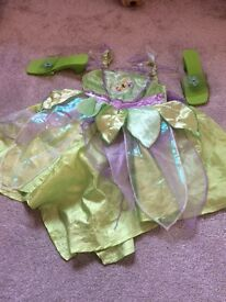 Tinkerbell dress up outfit with matching shoes