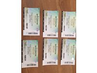 6 tickets for Kings of Leon in Hyde Park Thursday 6th July