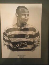 A3 framed Henrik Larsson portrait