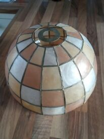 Shell lampshade. Max 100 watt bulb.