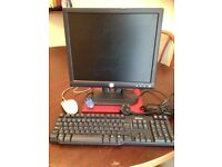 "DELL 17"" monitor and DELL keyboard"