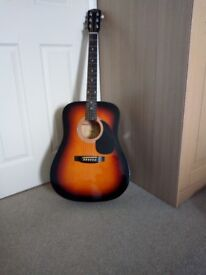 Accoustic guitar and case, excellent condition £10.