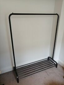 Very New Clothes Rail w/ Shoes Storage