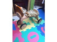 Wooden ride-on Tiger