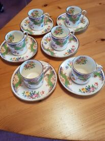 Antique Coffee Cups and Saucers