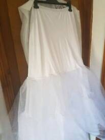 David's Bridal White Petticoat Size M
