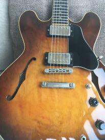 1984 Gibson ES-335 Dot Reissue Electric Guitar Tobacco Sunburst Tim Shaw PAFs